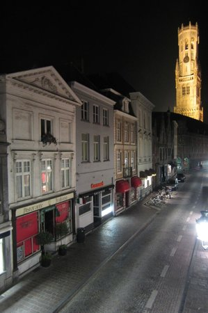Hotel Bourgoensch Hof : View leaning a little out the window!