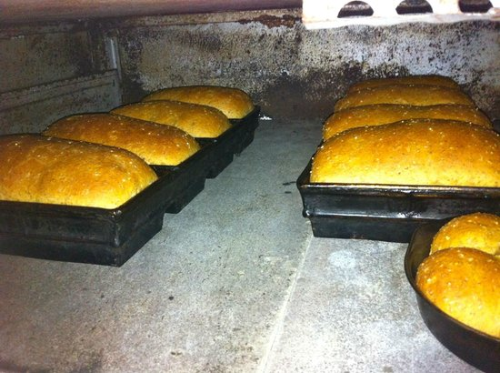 The Baker's Teahouse: bread in our brick oven