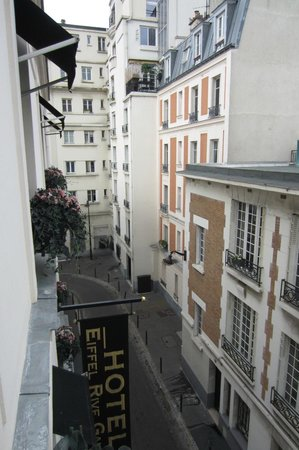 Eiffel Rive Gauche: View of the street from our room.