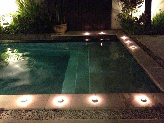 Maya Sayang Villa: プールは広くキャンドルを自分でセットしました。