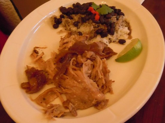 Dining Room: Cuban Roasted Pork with Rice and Black Beans