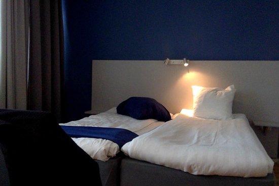 Connect Hotel Stockholm : La habitación preparada el segundo día
