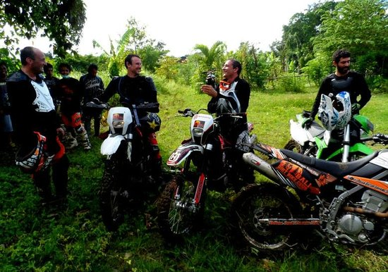 Bali Wilderness Dirt Bike - Day Tours: Having a chat in between the ride. Dirt Bike Tour Bali