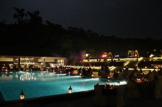 Pool side dinner the grill picture of taj madikeri - Resorts in madikeri with swimming pool ...