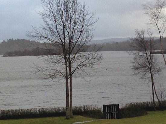 Lodge on Loch Lomond: View from window