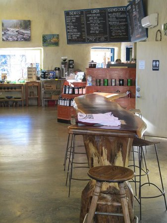 Junction City, CA: rustic wooden table