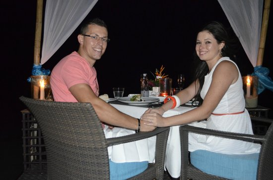 Chaweng Regent Beach Resort: Dinner in the Sea