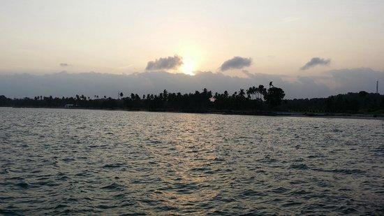 Batam View Beach Resort: Amazing view of Sunrise from the private beach