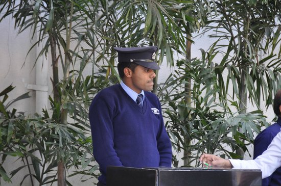 The Claridges New Delhi: Watching over your security - taxi numbers are noted