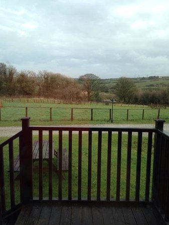 St. Tinney Farm Holidays: view from our lodge
