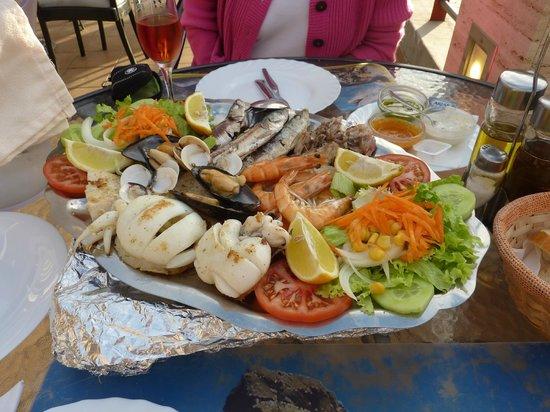Terraza El Jable : Seafood platter for 2