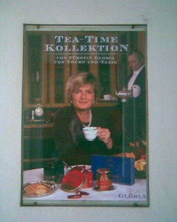 Schloss Thurn und Taxis: Poster in Schloss entrance