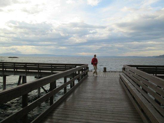 Storsand Gård Camping : Flott brygge og strand
