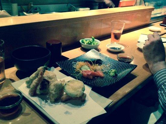 Kuni's Japanese Restaurant: Tempura and Sashimi