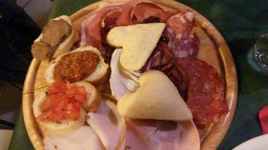 Quarrata, Italy: Antipasto toscano x1pers. San Valentino