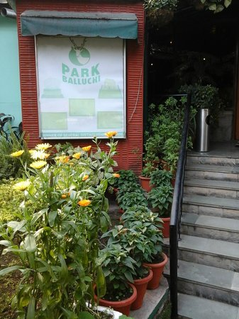 The Project at Park Balluchi: The entrance to the Restaurant