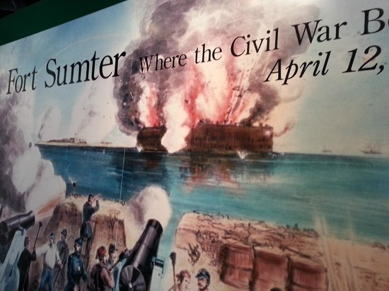 Fort Sumter National Monument : museum sign