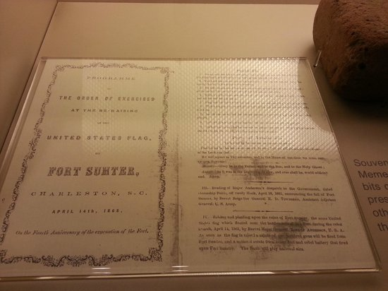 Fort Sumter National Monument : program from flag raising ceremony at end of war