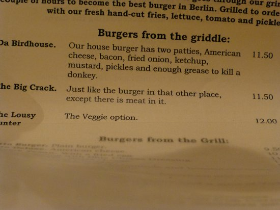 The Bird: ' and enough grease to kill a donkey'