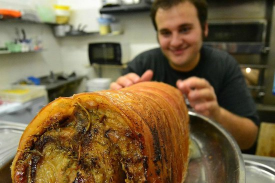 Radicchio & Gorgonzola : porchetta appena sfornata calda calda