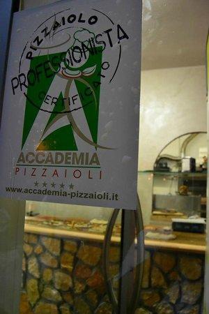 Radicchio & Gorgonzola : l'attestato dell'accademia pizzaioli