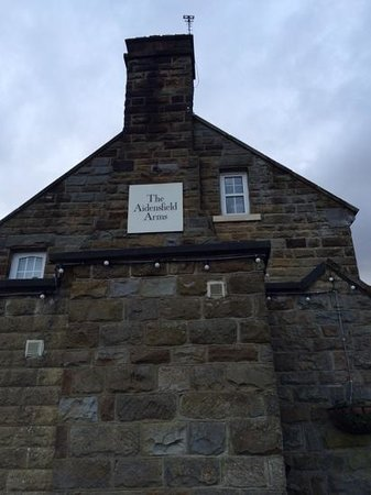 Goathland Hotel with Aidensfield Arms sign