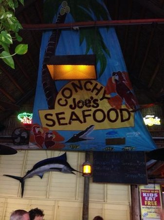 Conchy Joe's Seafood: great sign