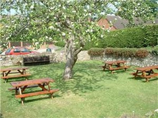 Selattyn, UK: The Cross Keys gardens.