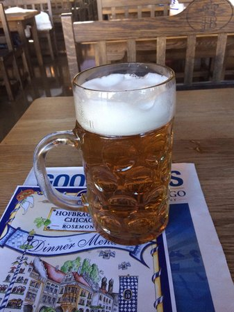 Hofbrauhaus Chicago: The awesome beer!