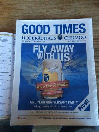 Hofbrauhaus Chicago: The menu