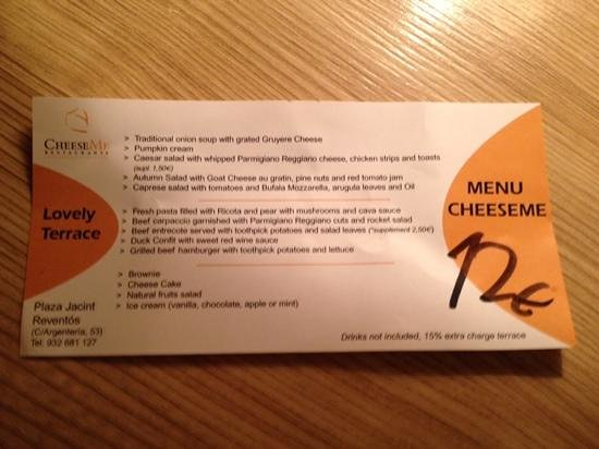 Cheese Me : Feb 2014 offer