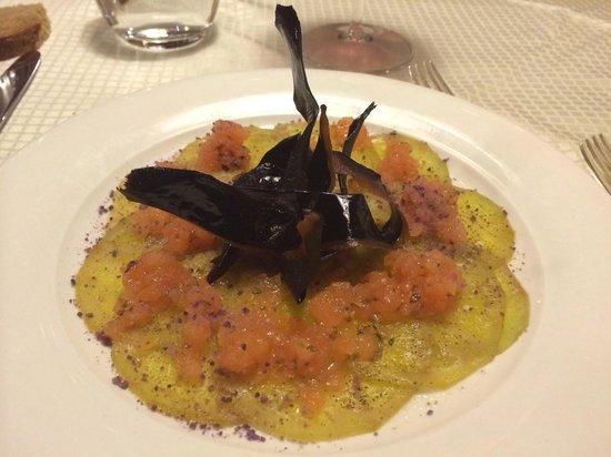 Hotel Arlara: Carpaccio vegetariano