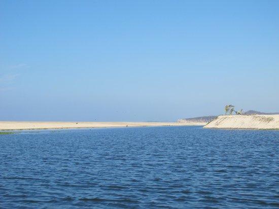 Laguna de Manialtepec: Where the lagoon meets the ocean.