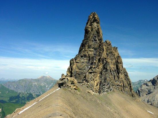 Adelboden: Das Tschingellochtighorn, keine zwei Wanderstunden oberhalb der Engstligenalp