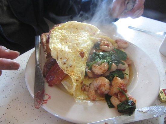 Cake Cafe: shrimp omelette