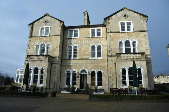 The imposing front aspect of the County Hotel
