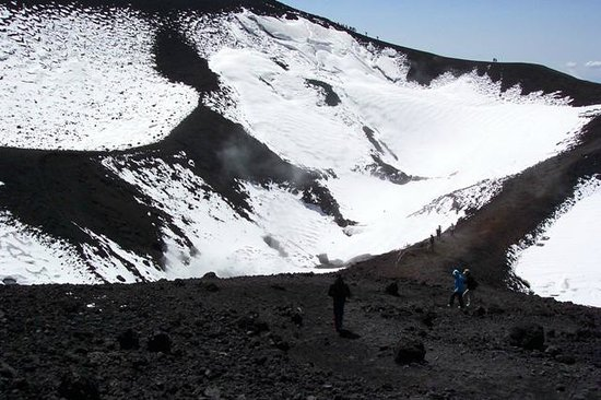Monte Etna: The scale of the place, notice the people!