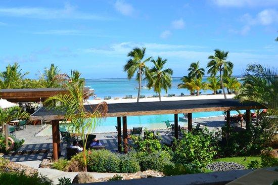 InterContinental Moorea Resort & Spa: vue du petit déjeuner