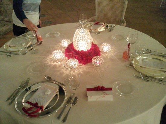Hotel Certosa Di San Giacomo: la tavola di san Valentino 2014