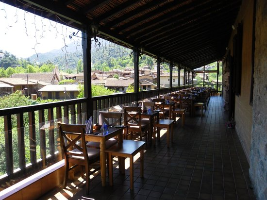 The Mill Hotel: ресторан на верхнем этаже