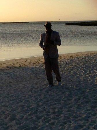 Melia Buenavista: Saxo en la puesta de sol.