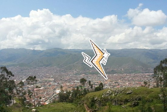 Hotel Jose Antonio Cusco : Our hotel at the tip of the lightening bolt-Cuzco Overview