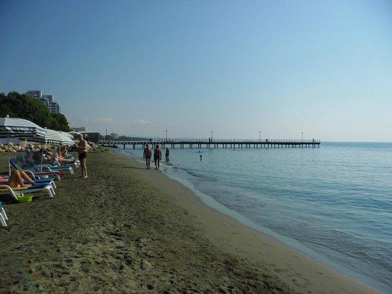 Kapetanios Hotel Limassol: пляж возле отеля