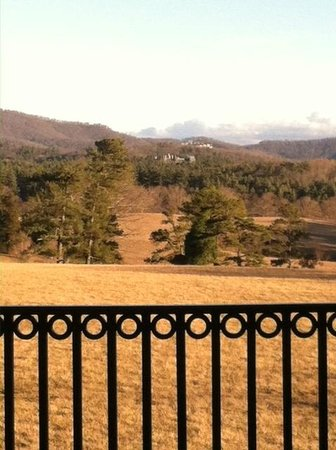 The Inn on Biltmore Estate : View from the patio of the Inn - Estate in background