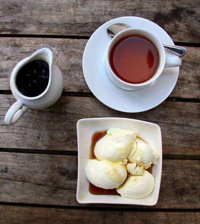 Serendipity Arts Cafe : Curd, kithul treacle (honey) et thé de Ceylan