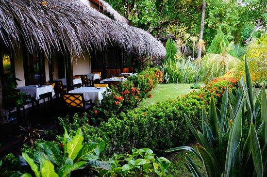 Adaaran Prestige Vadoo: Le restaurant - terrasse