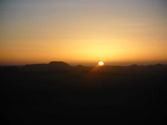 White Desert National Park: sunset