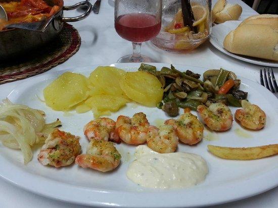 Saint Tropez Los Mellizos: les langoustines grillées