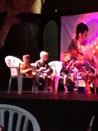 Marhaba Royal Salem: Kids playing on stage before entertainment started.