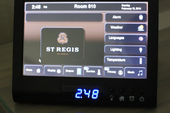The St. Regis Bal Harbour Resort : Room control panel